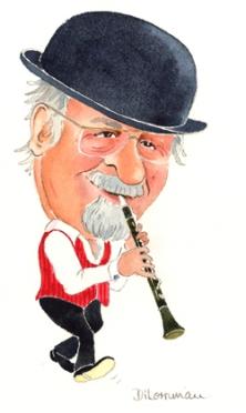 Acker Bilk Caricature