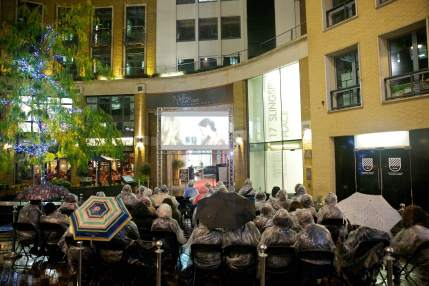 Silent Cinema at St Martin's Courtyard, London