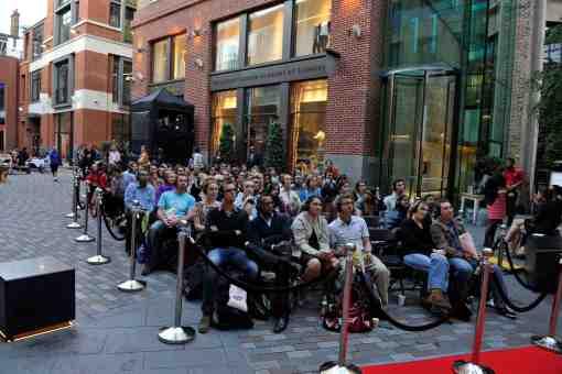Silent Cinema at St Martin's Courtyard, London