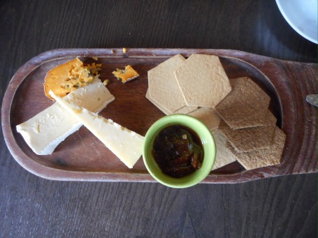 Cheese Board With Homemade Chutney & Crackers