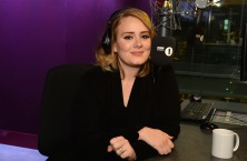 Adele on this morning's BBC Radio 1 Breakfast Show with Nick Grimshaw. The show broadcast the world premiere of her new  single,  'Hello'  on Friday 23 Oct.2015.