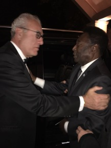 Abraham Bejerano, Proprietor & President of AB Hotels, and Pele at Sopwell House