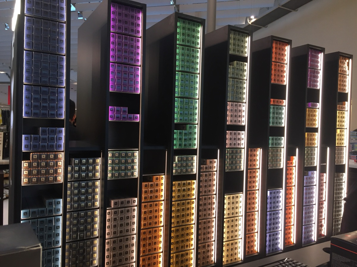 Buy Nespresso capsules from their permanent pop up at John  -> Nespresso John Lewis