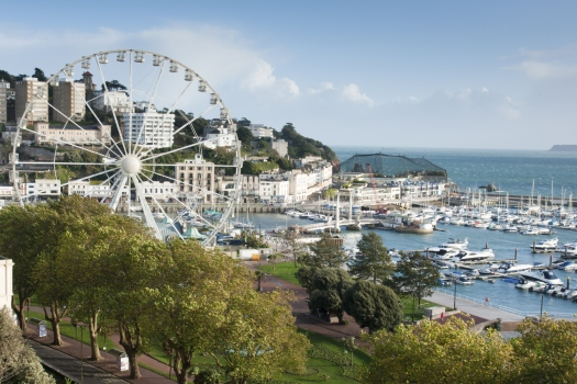 Big Wheel at Torquay Harbour in south Devon England