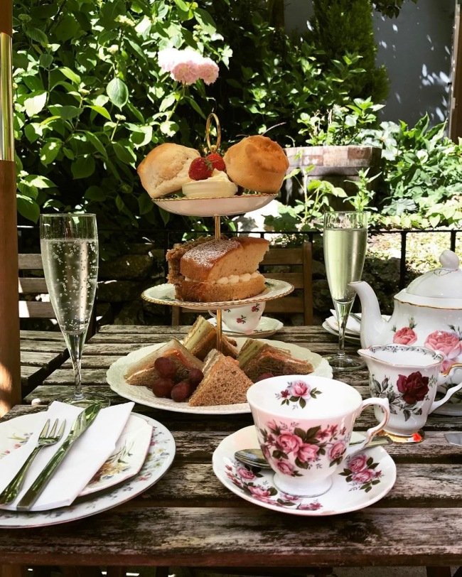 Enjoy tea and something to eat at The Lion Rock Tea Rooms, Cheddar, Somerset